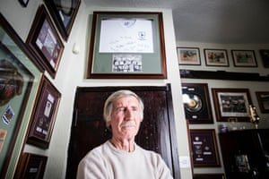 Cliff Jones pictured at home, surrounded by memorabilia from his 19-year career. Jones spent 10 of them, from 1958 to 1968, at Tottenham and made 378 appearances, scoring 159 goals.