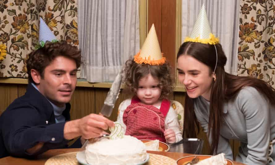 Zac Efron (left) and Lily Collins (right) in Extremely Wicked, Shockingly Evil and Vile.