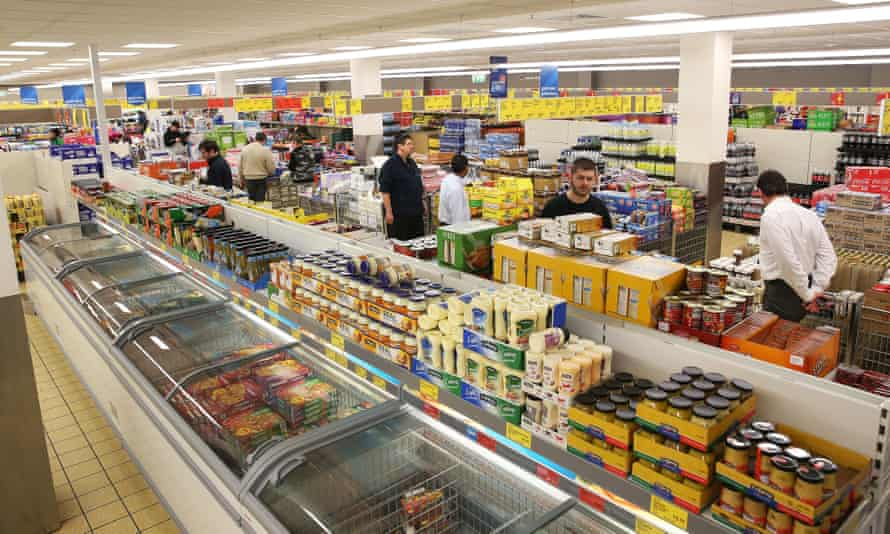 Customers at Aldi