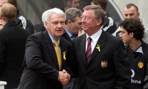 Old foes … Bobby Robson and Alex Ferguson.