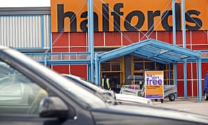 A Halfords store.