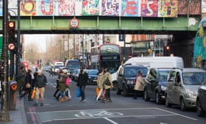 Brixton Road, Lambeth, has reached legal limits for air pollution.