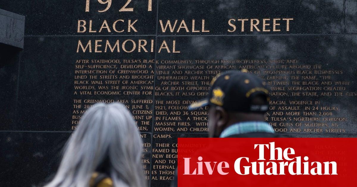 Biden visits Tulsa to honor victims of 1921 race massacre – US politics live