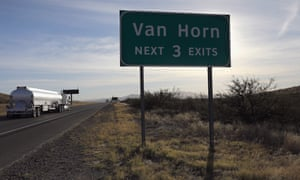 Interstate 10 passes through west Texas near Van Horn. The FBI has said it is investigating a 'potential assault' but the local sheriff believes border patrol agent Rogelio Martinez's death may have another explanation.