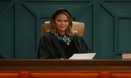 An image of Chrissy Teigen in the Chrissy court in Quibi.