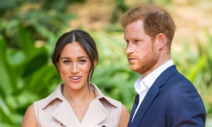 Meghan, the Duchess of Sussex, with Harry in Johannesburg, South Africa.