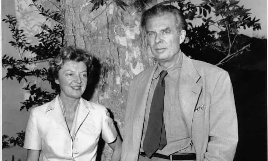 The novelist Aldous Huxley with his wife, Laura.