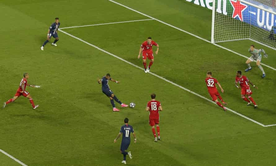 Kylian Mbappé had perhaps PSG's best chance, but sent his shot straight at Neuer.