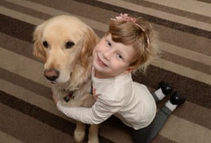 Beth and Quartz the autism awareness dog