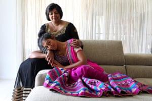 Shalini Pratap with her daughter Vineesha Veer