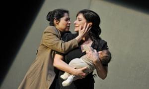 Cecilia Bartoli, right, in Bellini's Norma.