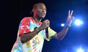 Pharrell performing at University of Virginia's Scott Stadium in Charlottesville.