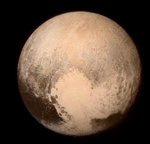 The detailed photo of Pluto released on Monday.