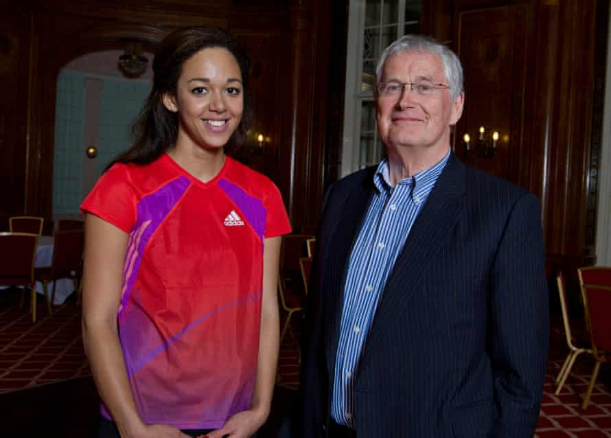 The millionaire businessman Barrie Wells (right), helped Katarina Johnson-Thompson and is now guiding Keely Hodgkinson.