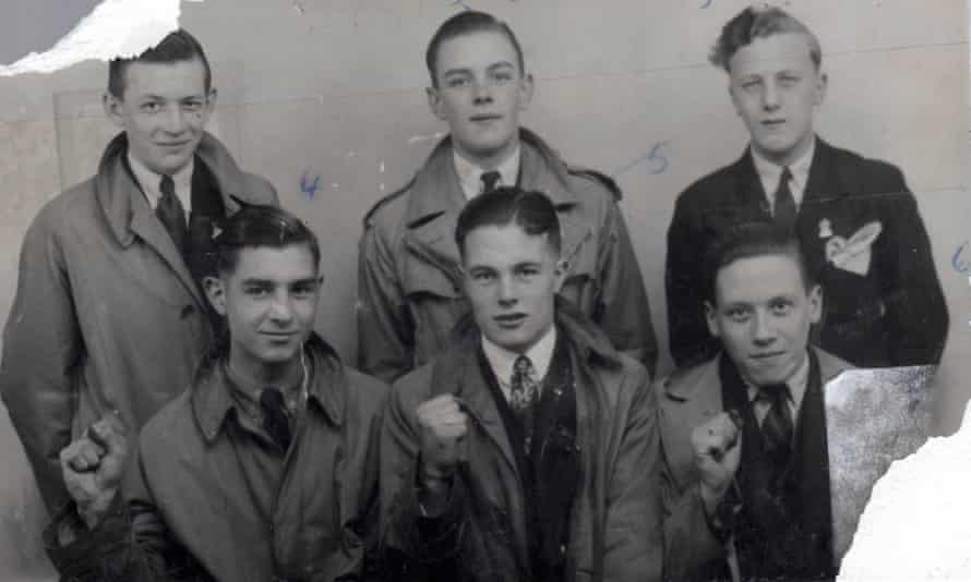 Johnny Longstaff (centre front) and friends.