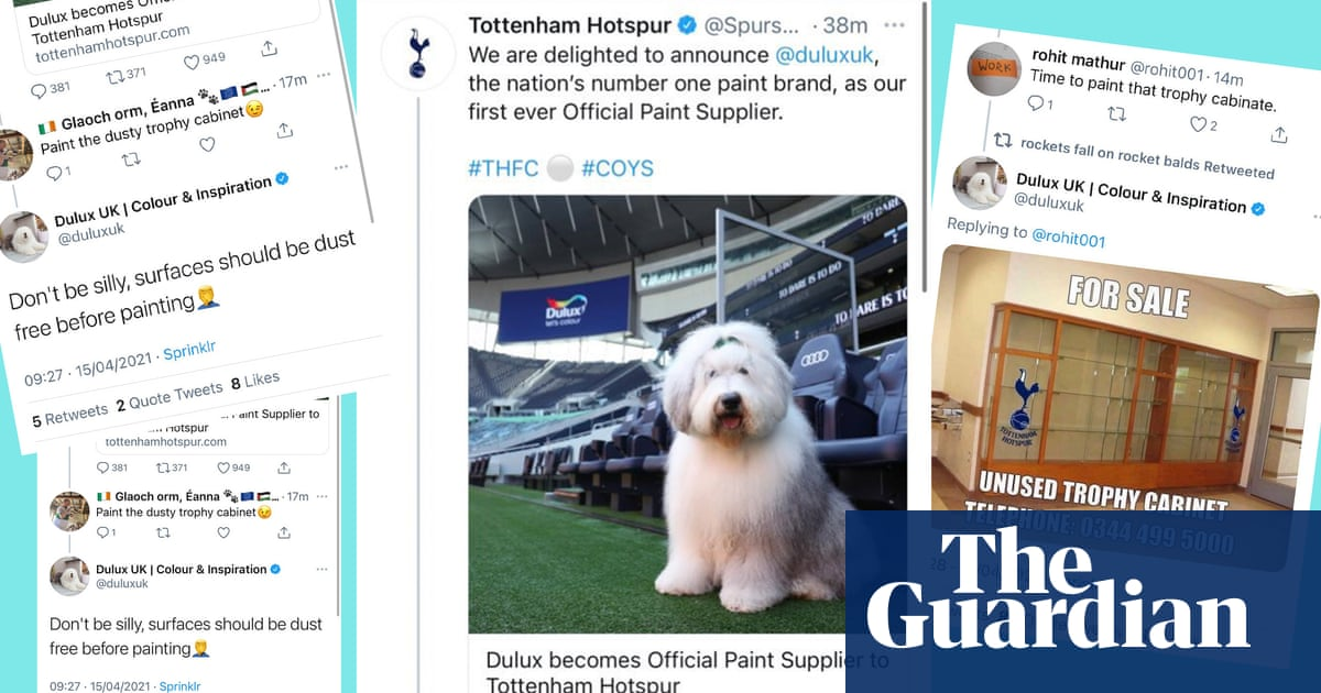 Dulux's Twitter trolling of Tottenham takes gloss off club's new sponsorship