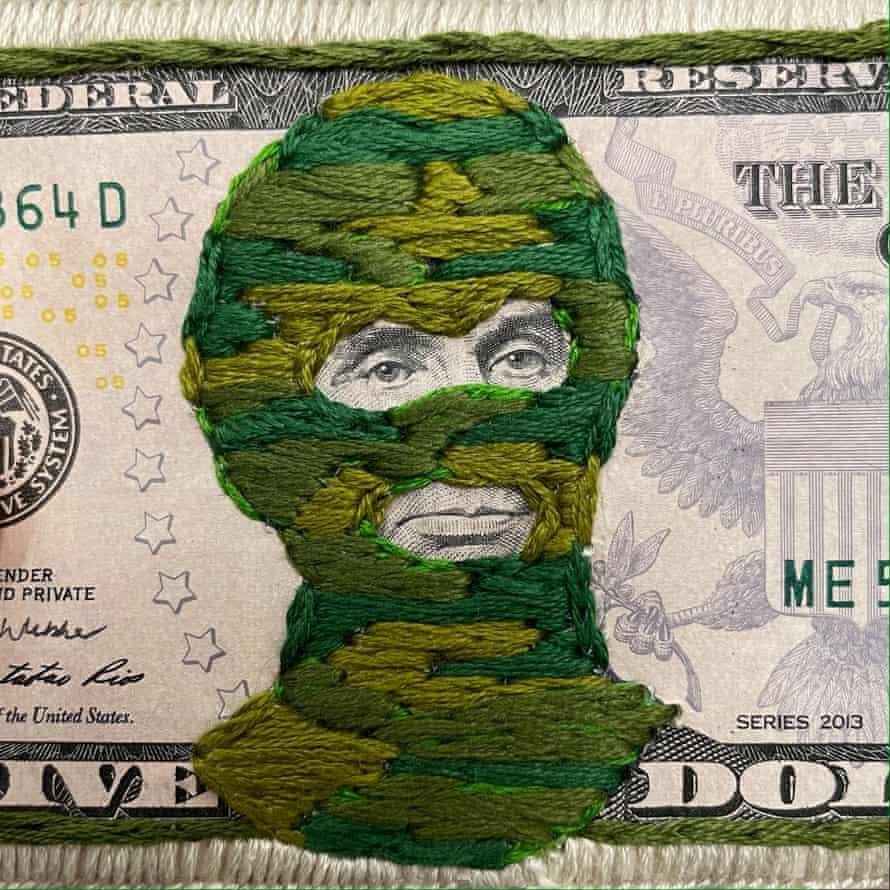 Banknote artwork.