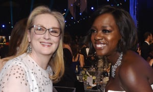 With Meryl Streep at the Screen Actors Guild awards, 2017.