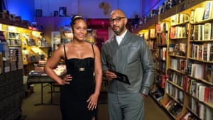 Presenters Alicia Keys in Versace and Swizz Beatz in Prada