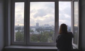 State TV journalist, Ksenia Baharava in Minsk city hospital.