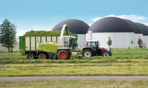 Grass at the plant would be turned into biomethane within 45 days
