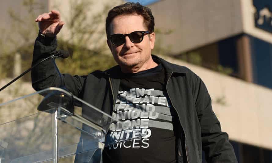 Michael J Fox at the rally