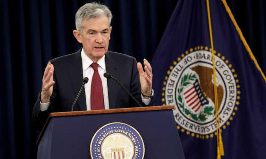 Fed chair Jerome Powell speaks in Washington this month.
