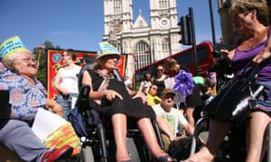Disabled people protest