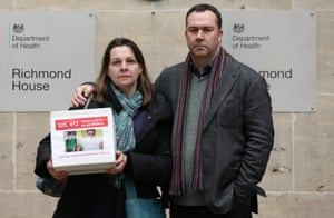 Isabelle and Robin Garnett, who used the internet to highlight the plight of their autistic son Matthew.