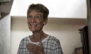 Patricia Fox smiles inside her house in Manila on Tuesday after learning of her successful appeal.