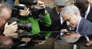 José Mourinho, who turned up unexpectedly at the tribunal on Tuesday, leaves.