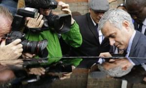 Mourinho leaves an employment tribunal hearing for Eva Carneiro.