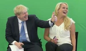 Boris Johnson and Jennifer Arcuri at an Innotech summit in July 2013, when he was London mayor