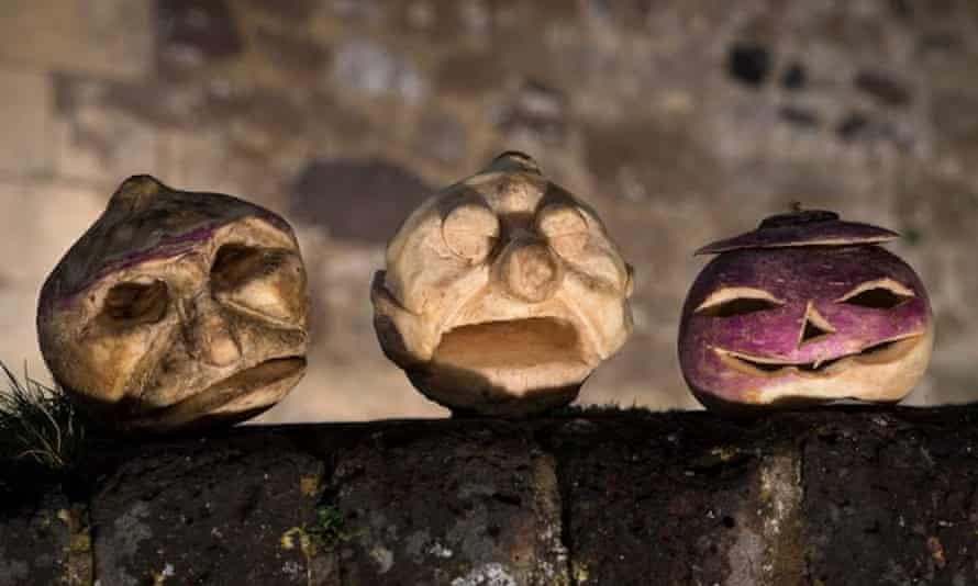 Carved turnips at Dover Castle