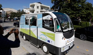 The driverless bus in Trikala town