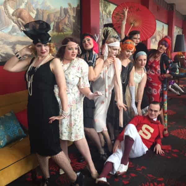 The vintagesquad at the Roaring 20s festival in Cats Alley in the Hydro Majestic