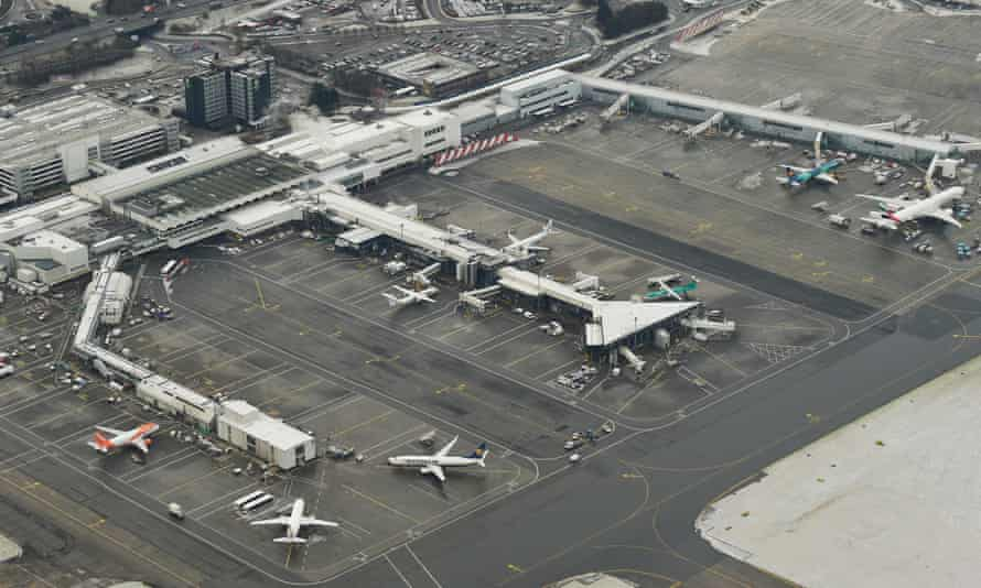 Aerial view of Glasgow international airport