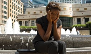 Businesswoman looking upset