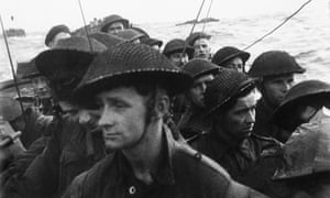 Commandos aboard a landing craft on D-day, 6 June 1944.