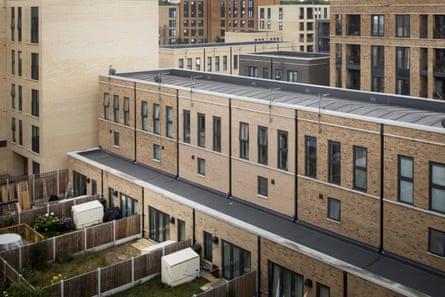 'It's like a posh prison' …the refurbished Myatts Field North estate in Lambeth south London.