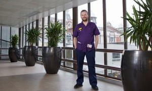 Dan Wicks, charge nurse at Guy's and St Thomas' NHS foundation trust, London: 'No one has commented on me being a matron and a man.'