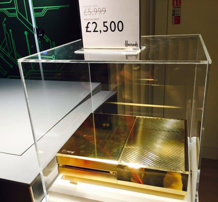 Yours for just £2,500: the gold-plated Xbox One in the Harrods sale.