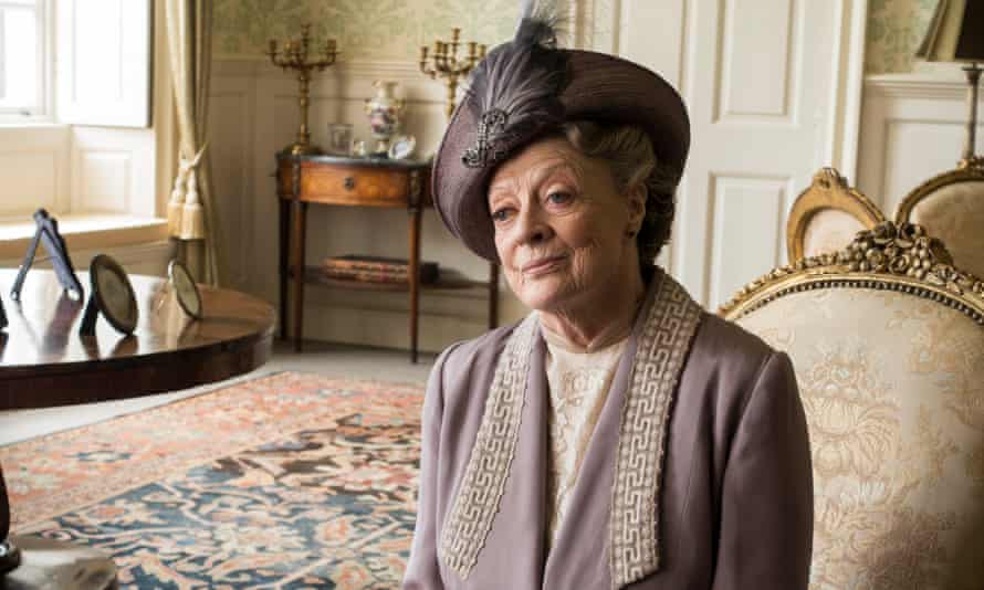 Maggie Smith plays Violet in Downton Abbey.
