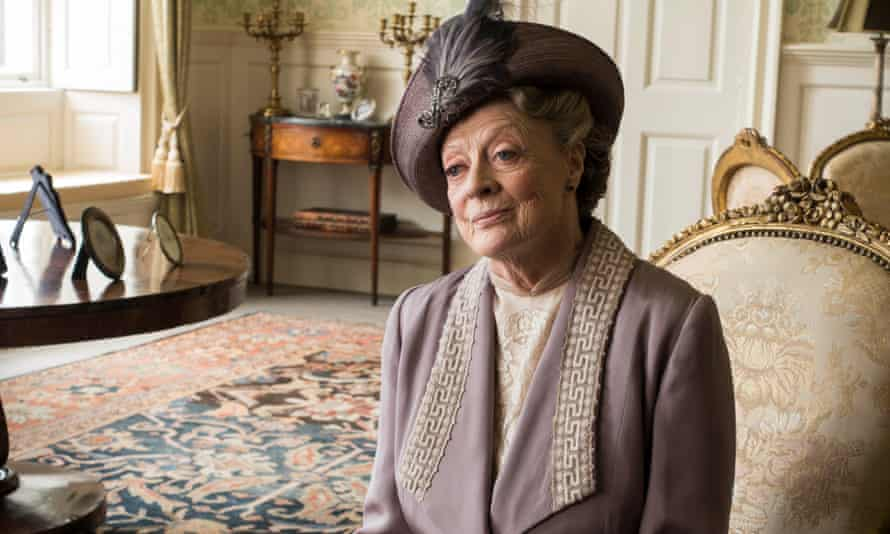 Maggie Smith as the Dowager Countess of Grantham in the final series of Downton Abbey.