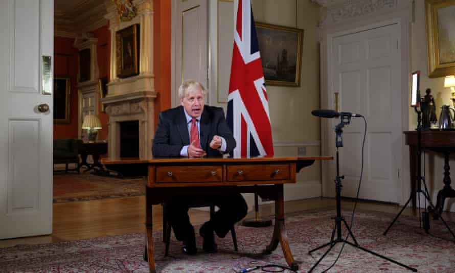 Boris Johnson announces new restrictions in England on Tuesday.