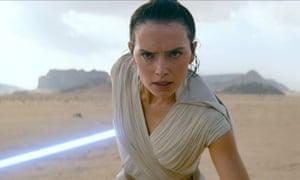 Fast-track Jedi … Daisy Ridley as Rey.