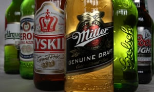Miller, Peroni, Tyskie, Pilsner Urquell, Grolsch and Coors Light, all brewed by SABMiller.