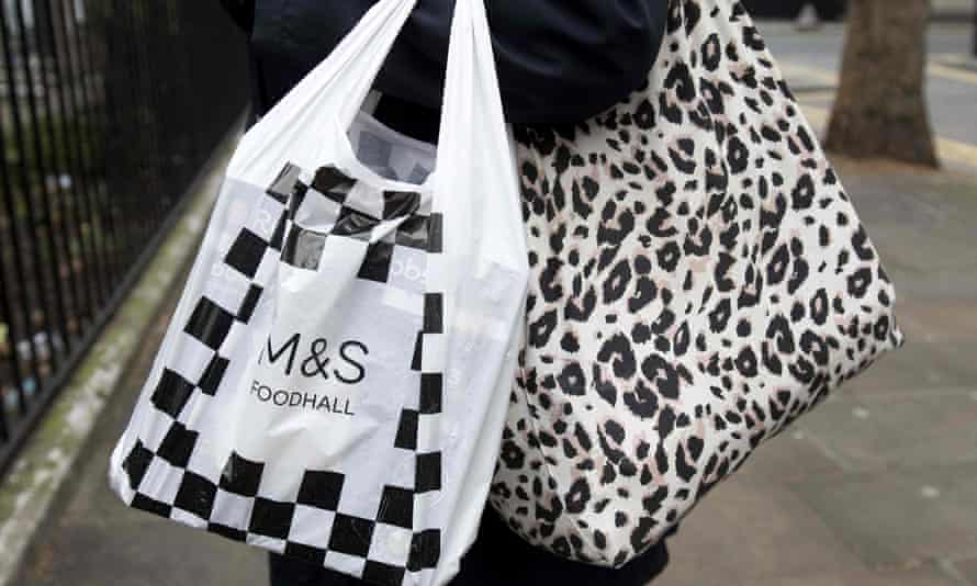 Woman with M&S bag