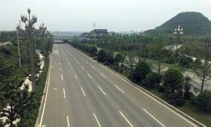 An empty new road in Gui An