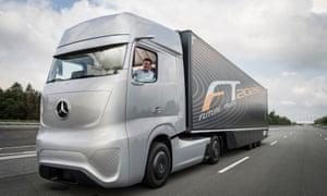Daimler's driverless Future Truck 2025 prototype